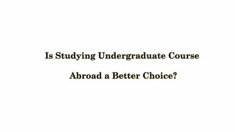 Benefits of studying abroad essay
